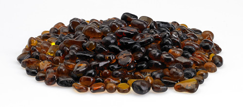 Amber Eco Glass Fire Beads
