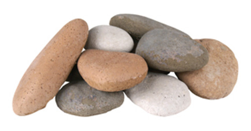 Assorted River Rock Fyre Stones- 10 piece