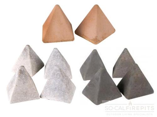 Real Fyre - Pyramids (4 Sided) Geometric Stones