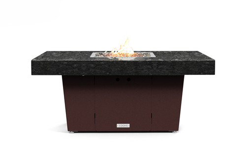 "COOKE Palisades Rectangular Fire Pit Table - 48"" x 36"" - Chat Height"