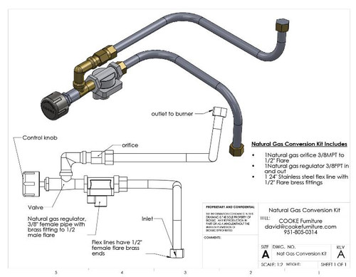 COOKE Nat Gas Conversion Kit
