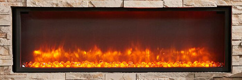 """Outdoot Greatroom - 44"""" Linear Gallery Built In Electric Fireplace"""