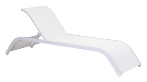 Sun Beach Chaise Lounge White