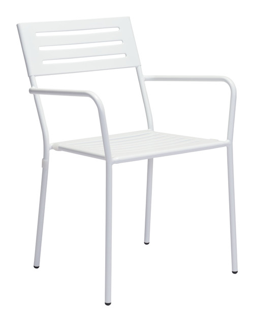 Wald Dining Arm Chair White