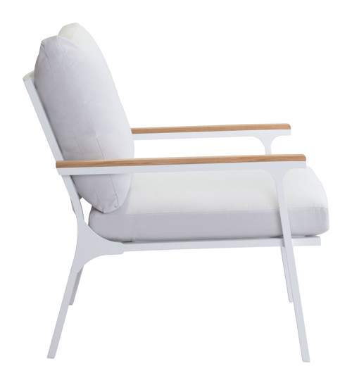 Maya Beach Arm Chair Gray, Natural & Wht