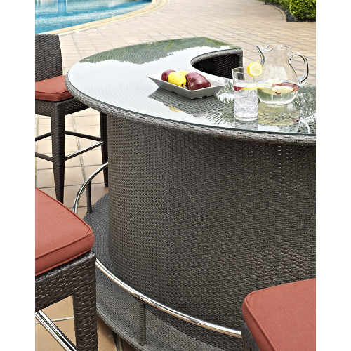 Evans Lane - Cruz Bay 7 Piece Bar Set