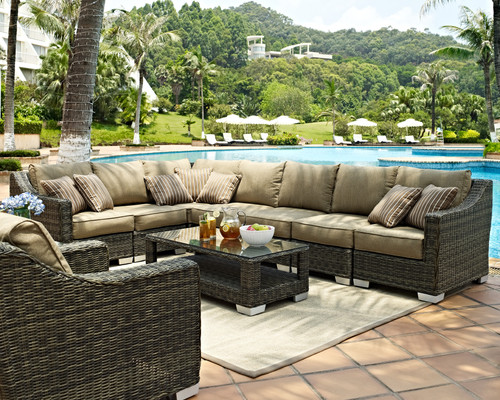 Evans Lane - Palmetto 10 Piece Deep Seating Set