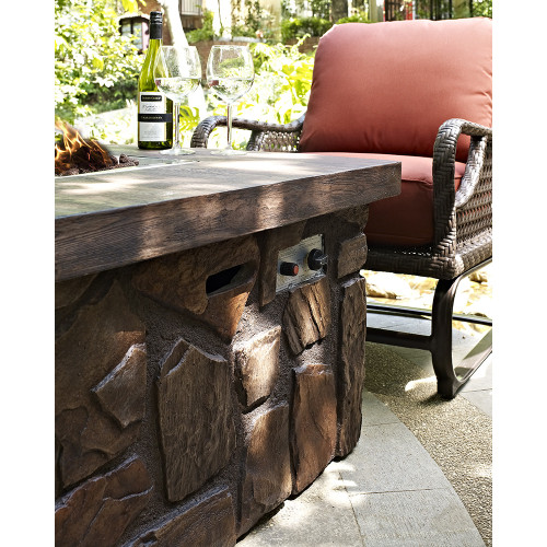Evans Lane - Port Royal 5 Piece Fire Pit Seating Set