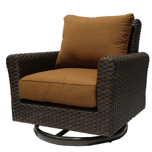 Evans Lane - Hampton Cushioned Swivel Club Chairs (Includes 2)