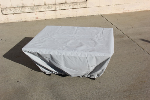 COOKE Sea Spray cloth cover for 48x36x22H fire pit table
