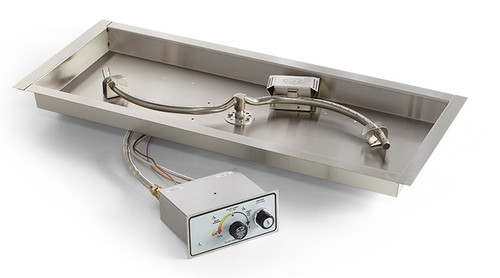 """HPC 42""""x14"""" Rectangle Insert with S-Burner - Push Button Ignition"""