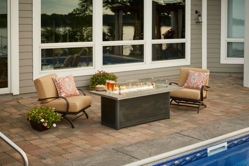 Outdoor Greatroom - Cedar Ridge Linear Gas Fire Pit Table