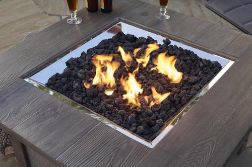 Outdoor Greatroom - Black Natural Lava Rock