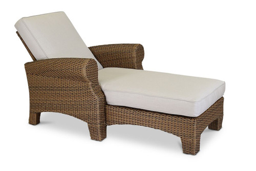 Santa Cruz Adjustable Chaise  with cushions in Canvas Flax with self welt