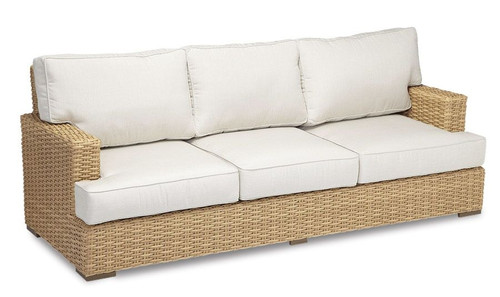 Leucadia Sofa with cushions in Canvas Flax with self welt