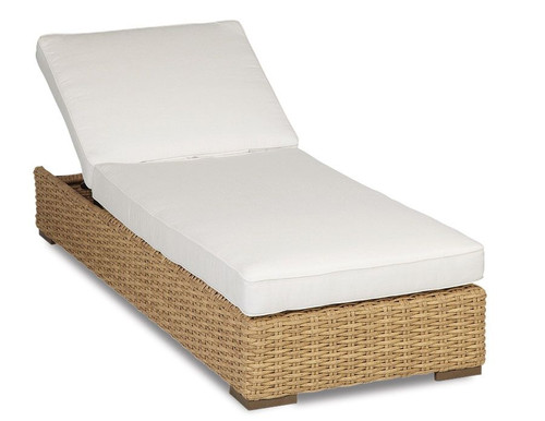Leucadia Adjustable Chaise with cushions in Canvas Flax with self welt