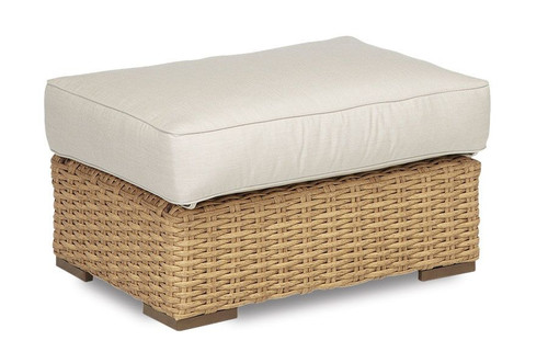 Leucadia Ottoman with cushions in Canvas Flax with self welt