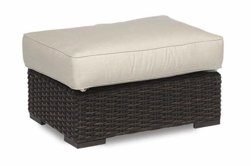 Cardiff Ottoman with cushions in Canvas Flax with self welt