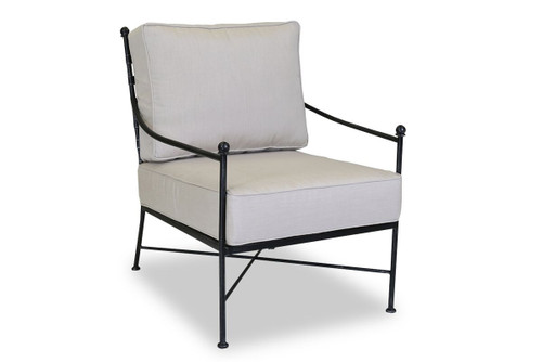 Provence Club Chair with cushions in Canvas Flax with self welt
