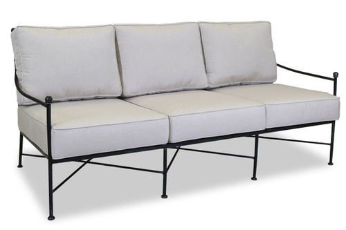 Provence Sofa with cushions in Canvas Flax with self welt