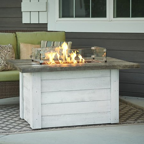 Outdoor Greatroom - Alcott Rectangular Gas Fire Pit Table