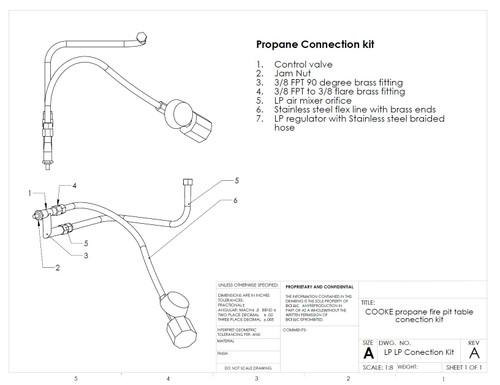 COOKE LP Gas Connection Kit