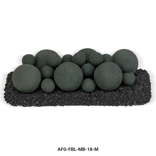 AFG - Matte Black Lite Stone Ball Set - Mixed