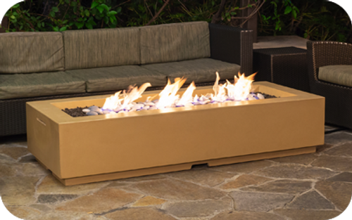 American Fyre Designs Louvre Long Rectangle Fire Pit