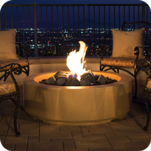 American Fyre Designs Louvre Round Fire Pit
