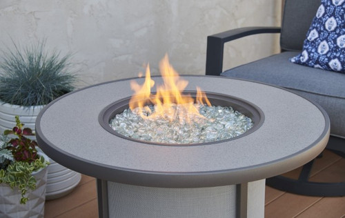 Outdoor Greatroom Stonefire Gas Fire Pit Table Flame