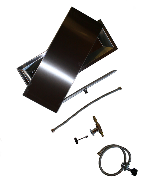 "COOKE 17"" x 47"" Rectangular Fire Pit Kit w/ Optional Lid"