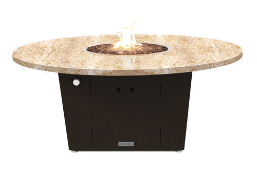 """COOKE Olympic Round Fire Pit Table 55"""" Diameter - Chat Height"""