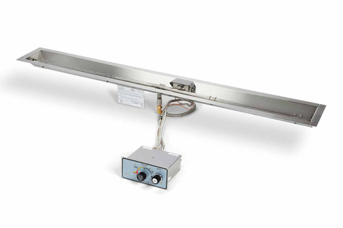 "Hearth Products Controls - 96"" Linear Trough Pan Insert - Push Button Ignition"