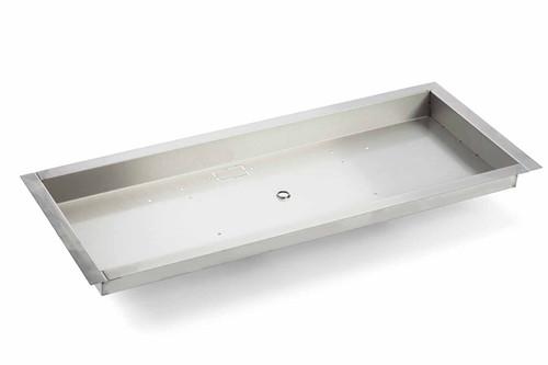 "HPC 42 X 14"" Stainless Steel Rectangle Bowl Pan"