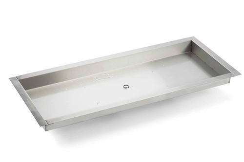 "Hearth Products Controls - 66""x16"" Stainless Steel Rectangle Bowl Pan"
