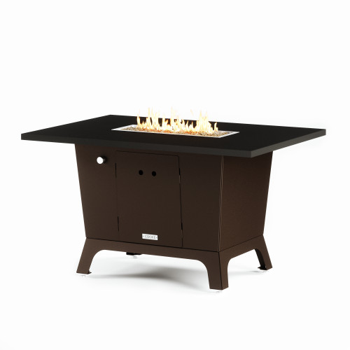 "COOKE Palisades Fire Pit Table 52"" x 36"" x 30""- Aluminum Top"