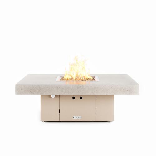"COOKE Santa Barbara Fire Pit Table 48"" x 36"" x 17"" - Stone Top"