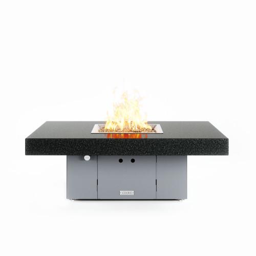 "COOKE Santa Barbara 36"" x 48"" Fire Pit Table, Black Mist Honed Granite"
