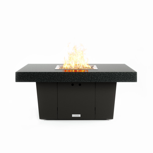 "COOKE Palisades 36"" x 48"" Fire Pit Table, Black Mist Honed Granite"