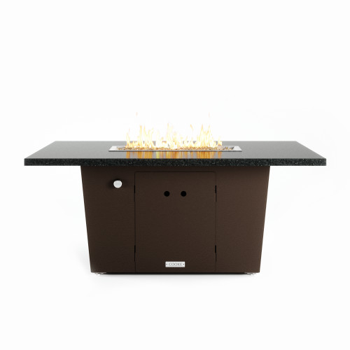"""COOKE Palisades 36"""" x 52"""" Fire Pit Table, Black Pearl Granite"""