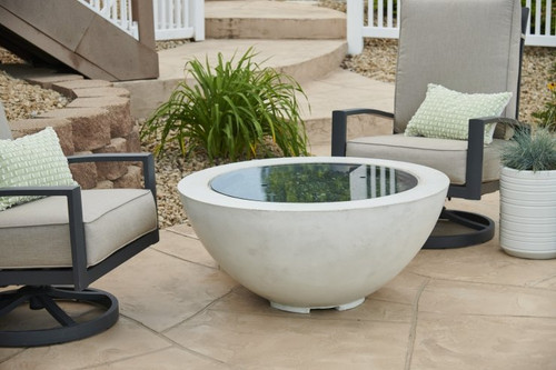 """Outdoor Greatroom - White Cove 42"""" Round Gas Fire Pit Bowl"""