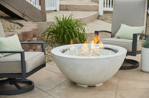 "Outdoor Greatroom - White Cove 30"" Firebowl"