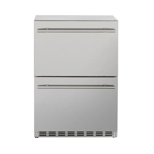 "Summerset 24"" 5.3c Deluxe Outdoor Rated 2-Drawer Refrigerator"