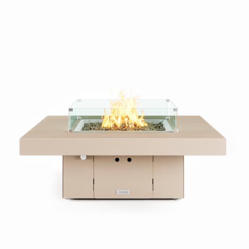 "COOKE Santa Barbara Fire Pit Table 48"" x 48"" x 17"" - Aluminum Top - XL Pan"