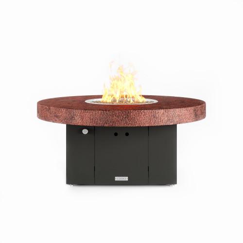 "COOKE Santa Barbara Fire Pit Table 48"" Diameter x 21"" - Hammered Copper Top"
