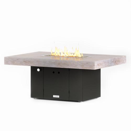 "COOKE Santa Barbara Fire Pit Table 52"" x 36"" x 21"" - Stone Top"
