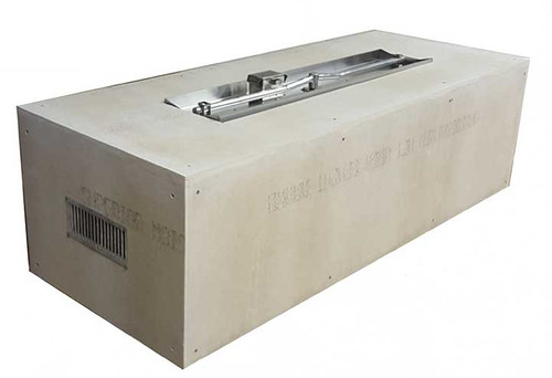 """Hearth Products Controls - Rectangle Unfinished Enclosure - 60"""" x 24"""" x 18"""" With 37"""" x 8"""" Interlink Insert"""