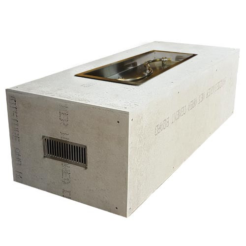 """Hearth Products Controls - Rectangle Unfinished Enclosure - 60"""" x 24"""" x 18"""" With 36"""" x 14"""" S-Fire Burner"""