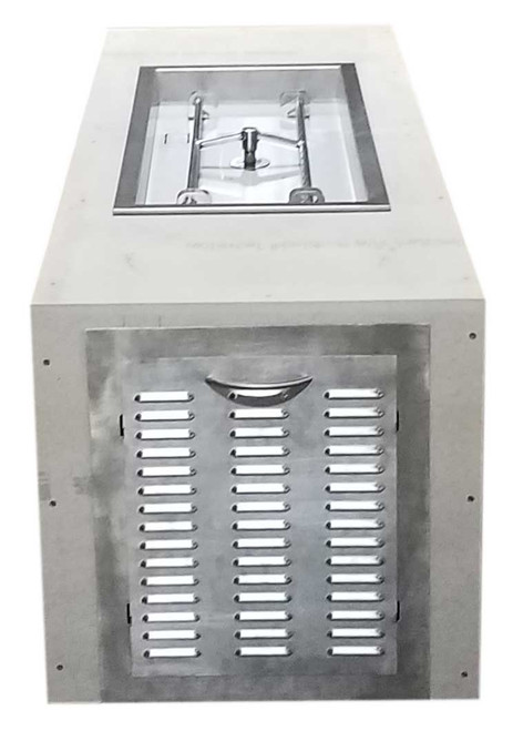 """Hearth Products Controls - Rectangle Small Tank Unfinished Enclosure - 70"""" x 24"""" x 23.5"""" with 36"""" x 14"""" H-Burner Insert"""