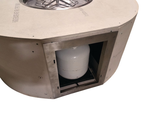 """Hearth Products Controls - Rectangle Small Tank Unfinished Enclosure - 80"""" x 24"""" x 23.5"""" with 49"""" x 8""""Interlink Insert"""